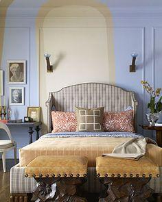 Mar&Vi Creative Studio - Italia: Interior Design: Pareti con settori di colore, un tocco scenografico
