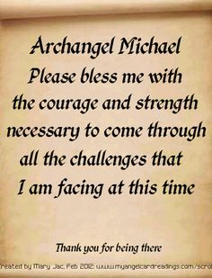 One of 24 prayers, messages and affirmations of trust in the Archangels presented on parchment scrolls. Reiki, St. Michael, Saint Michael, Angel Protector, Archangel Prayers, Angel Quotes, Angel Sayings, I Believe In Angels, Ange Demon