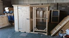 Handcrafted 8x4x6.5ft Rabbit shed with a walkin in Rabbit Run at a size of 8x4x6.5ft   Handmade By Boyles Pet Housing
