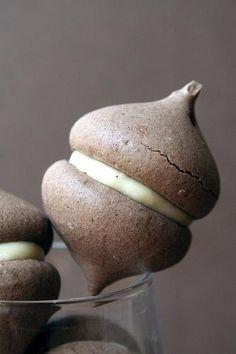 Chocolate Meringue and Milk Jam Cookies