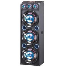 "3x12"" Pa Speakers Blue"