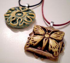 Clay Pendant Necklaces by Dancing Eye Gallery, via Flickr