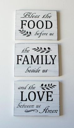Diy Wood Signs, Rustic Wood Signs, Pallet Signs, Vintage Wood Signs, Wooden Signs With Sayings, Painted Wood Signs, Dining Room Wall Decor, Room Decor, Dining Rooms