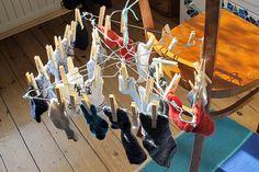 Wäschespinne Mini Drahtbügel Reinigung Kleiderbügel Upcycling Recycling DIY Basteln