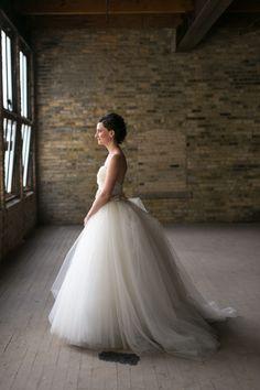 White and Gold Wedding. Sweetheart Corset Ballgown Dress. Lazaro | Heather Cook Elliott Photography