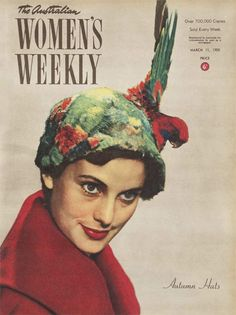 unusual tropical parrot head wear  Unknown designer  I do not really like this hat however it shows how to interpret surrealism in fashion