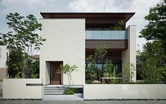 Landscaping To Sell House Bungalow House Design, House Front Design, Modern House Design, Modern House Facades, Minimalist Architecture, Modern Architecture, Facade Design, Exterior Design, Japanese Modern House