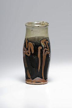 Shoji Hamada, Red Glazed Stoneware Vase