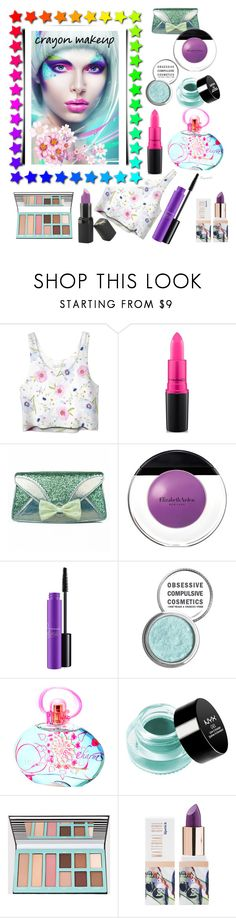 """Crayon- Makeup"" by ragnh-mjos ❤ liked on Polyvore featuring beauty, MAC Cosmetics, Irregular Choice, Elizabeth Arden, Obsessive Compulsive Cosmetics, Salvatore Ferragamo, NYX, Teeez, Barry M and contest"