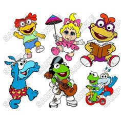 Muppet Babies T Shirt Iron on Transfer Decal #1