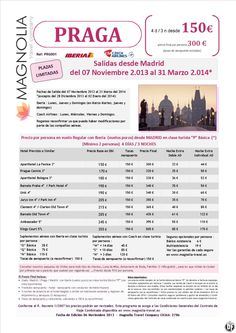 Praga 4 ds / 3nts desde 150 € (noviembre 2013/marzo 2014) desde Madrid ultimo minuto - http://zocotours.com/praga-4-ds-3nts-desde-150-e-noviembre-2013marzo-2014-desde-madrid-ultimo-minuto/