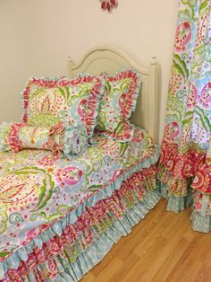 Little Charlie May--TWIN SIZE Kumari Garden Bedding----Made To Order---Twin Size Bedding
