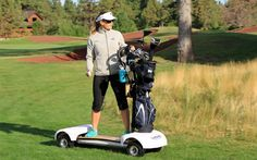 A cross between a surf board and buggy has been created in an attempt to make golf more appealing to a younger generation of potential stars...