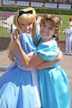 Alice and Wendy <3 I love this because the original Alice and Wendy were voiced by the same girl!!!