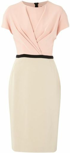 Max Mara Studio Pink Harlem Colour Block Dress