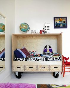 Make your own moveable reading room that can be repurposed as the kids grow up.