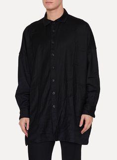 Black Wool Cashmere Overshirt - Casey Casey