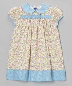Take a look at this Light Blue & Pink Floral Corduroy Dress - Infant & Toddler by Cotton Blu & Cotton Pink on #zulily today!