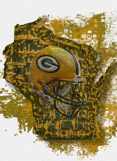Green Bay Packers Art Print by Jack Zulli. All prints are professionally printed, packaged, and shipped within 3 - 4 business days. Packers Baby, Go Packers, Packers Football, Greenbay Packers, Football Memes, Falcons Football, Football Season, Green Bay Packers Fans, Green Bay Packers Wallpaper