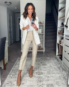 Cute Business Casual, Summer Business Casual Outfits, Business Casual Attire, Summer Work Outfits, Summer Fashion Outfits, Business Outfits, Work Fashion, Office Attire Women Professional Outfits, Casual Sporty Outfits