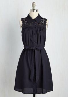 #AdoreWe #ModCloth Dress - ModCloth Gazebo Skylight A-Line Dress in Navy - AdoreWe.com