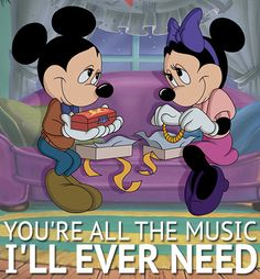 Today's #feels are brought to you by Mickey and Minnie