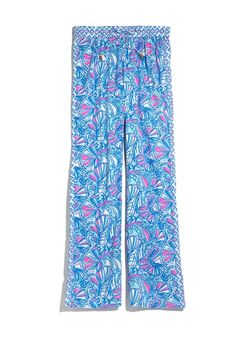 LillyPulitzerforTarget Blue, Pink and White Printed Palazzo Pants