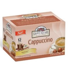 For my Keuring. I just ordered these and the Caramel ones.  Grove Square Cappuccino Cups, Hazelnut,Single Serve Cup for Keurig K-Cup Brewers, 12-Count (Pack of 3)