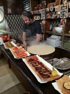 Best crepes ever.  Boqueria market Barcelona