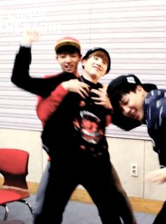 Oh my goodness Jungkookie and Jimin attacking my poor Suga xD❤️This looks familiar 'cough Chen & Suho cough' XD
