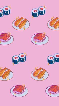 Japanese Wallpaper Iphone, Asian Wallpaper, Wallpaper Space, Iphone Background Wallpaper, Pink Wallpaper, Japanese Background, Kawaii Background, Cute Food Wallpaper, Kawaii Wallpaper