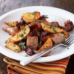 Sausage and sweet potato