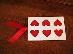Simple Valentine Photo Card with Envelope tutorial #crafts #Valentine
