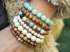 Beaded Bracelets Stretch Bracelets by AlisonStorryJewelry on Etsy