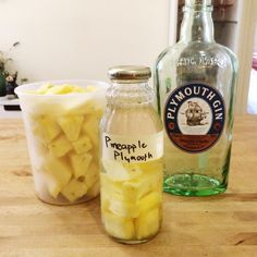 "Just whipped up a fresh batch of Pineapple infused Plymouth Gin! Seriously though, ""whipped up"" might be stretching the truth a bit. This is literally the easiest recipe ever: Cut up a …"