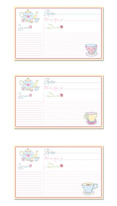 Time For Tea Printable Recipe Cards especially for you! - The Cottage Market