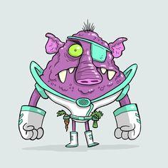 Alien a Day 02- Dr. Bob Glaggleflax Cosmic Dentist  #illustration #characterdesign #comics #cartoon #characters #illustrator #animation #design  #toydesign #conceptart #aliens #artistsoninstagram