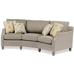 "Conversation Sofa - Wayside Furniture (Ohio): 323 Sofa by Smith Brothers - Width: 100""  x  Depth: 48""  x  Height: 38"""