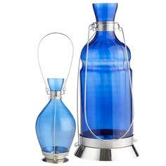 Cobalt Genie Bottle Lanterns