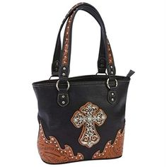 #tbt #design Features faux leather body with paisley design trim; rhinestone and studded details; top-zippered closure; shoulder straps; #exterior cell phone pou...