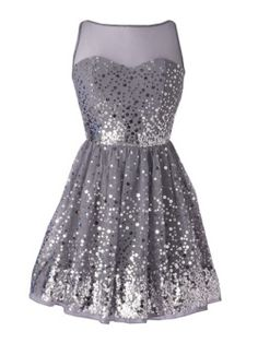 Delias Allover Silver Sequin Dress: 30 Fancy Homecoming Party Dresses