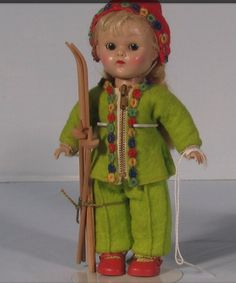 Vintage 1950's Vogue Ginny Doll Funtime Ski Outfit