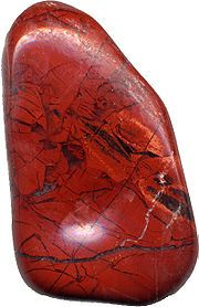Jasper. Red-Brown Jasper helps in cases of poor digestion. Drinking jasper water one hour before each meal is said to promote weight loss (place the stone every night in a glass of water and cover).