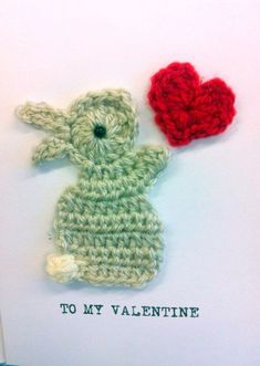 FREE - CROCHET - These appliques were for a Valentine's card but they would be adorable on any item ~ Crochet Valentine Cards Inspiration | HubPages