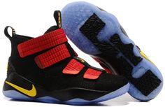 new arrival 50fa5 d25da James soldier 11 basketball shoes Black crimson yellow - Dicount Nike Store,Cheap  Nike Shoes