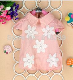 Critical edition 2014 summer children , girls lovely flowers cotton shirts, cotton shirts wholesale. $32.99