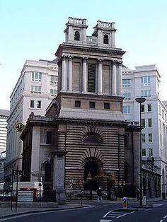 City of London's St Mary Woolnoth by Nicholas Hawksmoor, 1714-1730.