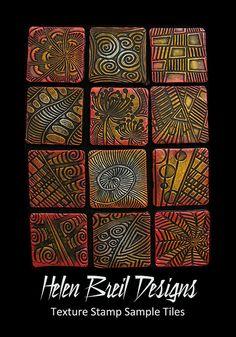 Tiles Samples of various texture designs by Helen Breil, via Flickr