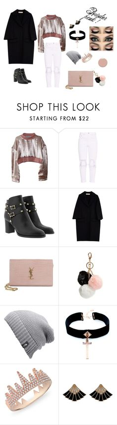 """#powder.pink#light&dark.colors/3"" by juliefashionz on Polyvore featuring moda, Marni, Yves Saint Laurent, GUESS, The North Face, VSA, Anne Sisteron i Christian Louboutin"