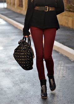 Burgundy Pants - Style Scrapbook | Burgundy Pants - Inspiration ...